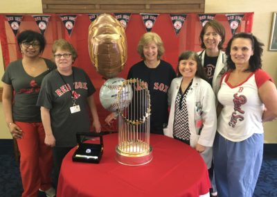 Elizabeth Seton Residence staff enjoyed viewing the trophy