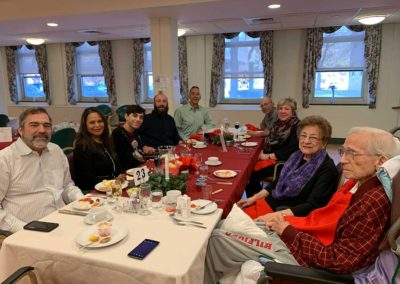 Families gather for our traditional Christmas lunch